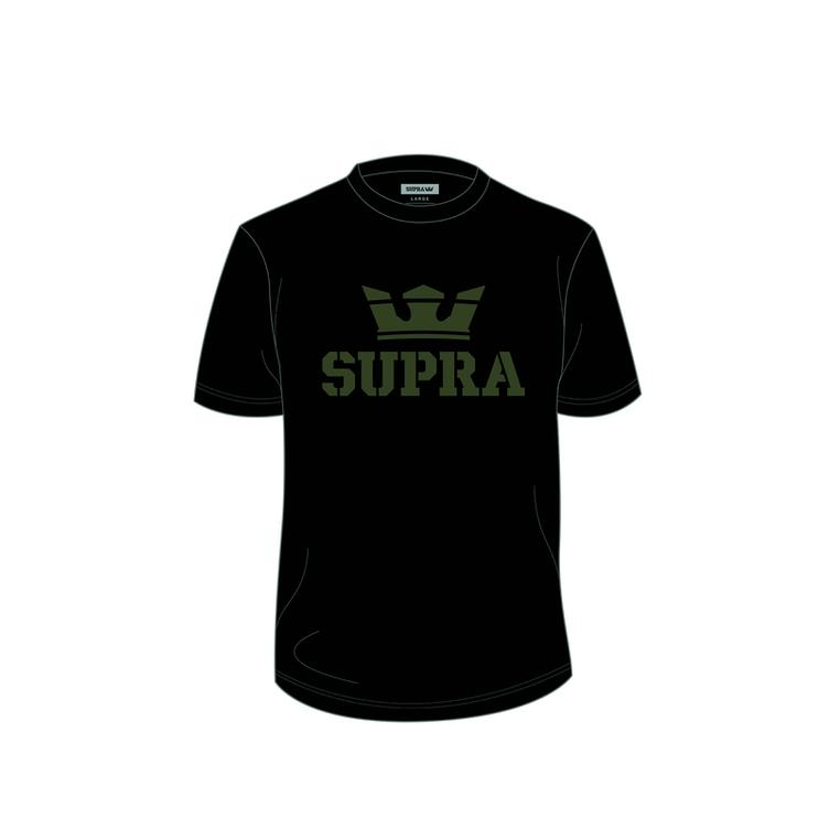 SUPRA Above Regular T-Shirt black/dk-olive