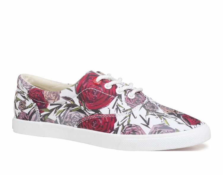 Geometric Roses white/red