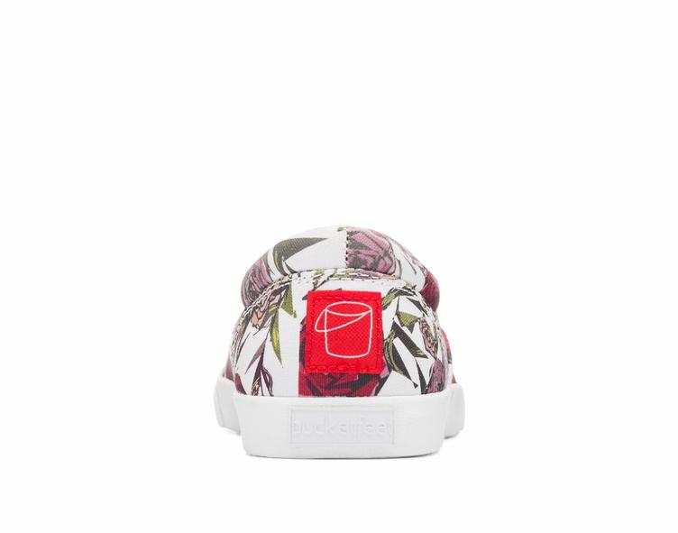 Geometric Roses white/red - 2