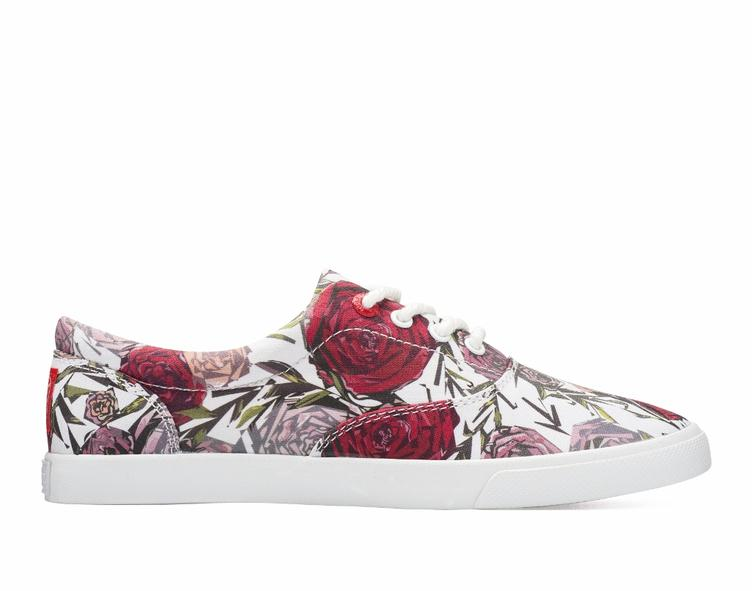 Geometric Roses white/red - 0