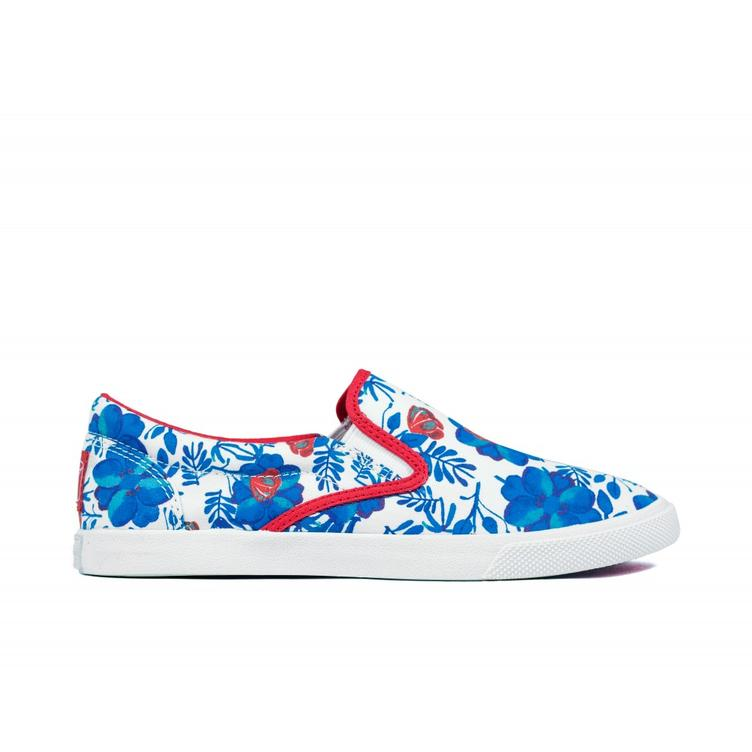 Floral blue/red - 0