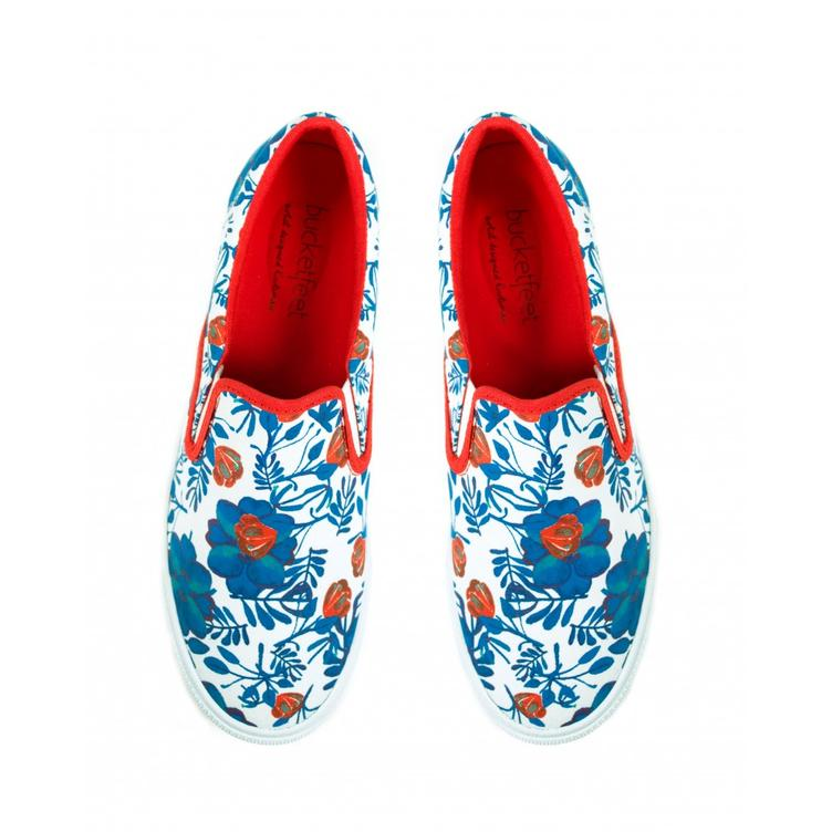 Floral blue/red - 2