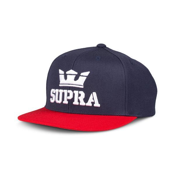 SUPRA Above II Snap Back Cap navy/red