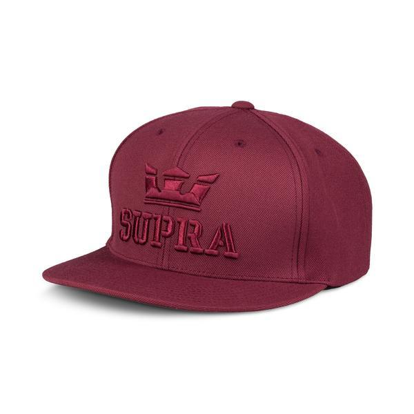 SUPRA Above II Snap Back Cap burgundy